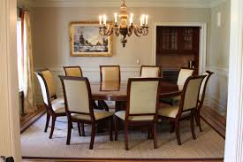 Ortanique Round Glass Dining Room Set by Glass Over Wood Dining Table 12225