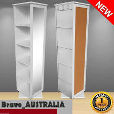 revolving bookcase cube shelf display cabinet rotating swivel