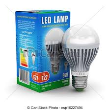 led l with package box creative power saving and energy