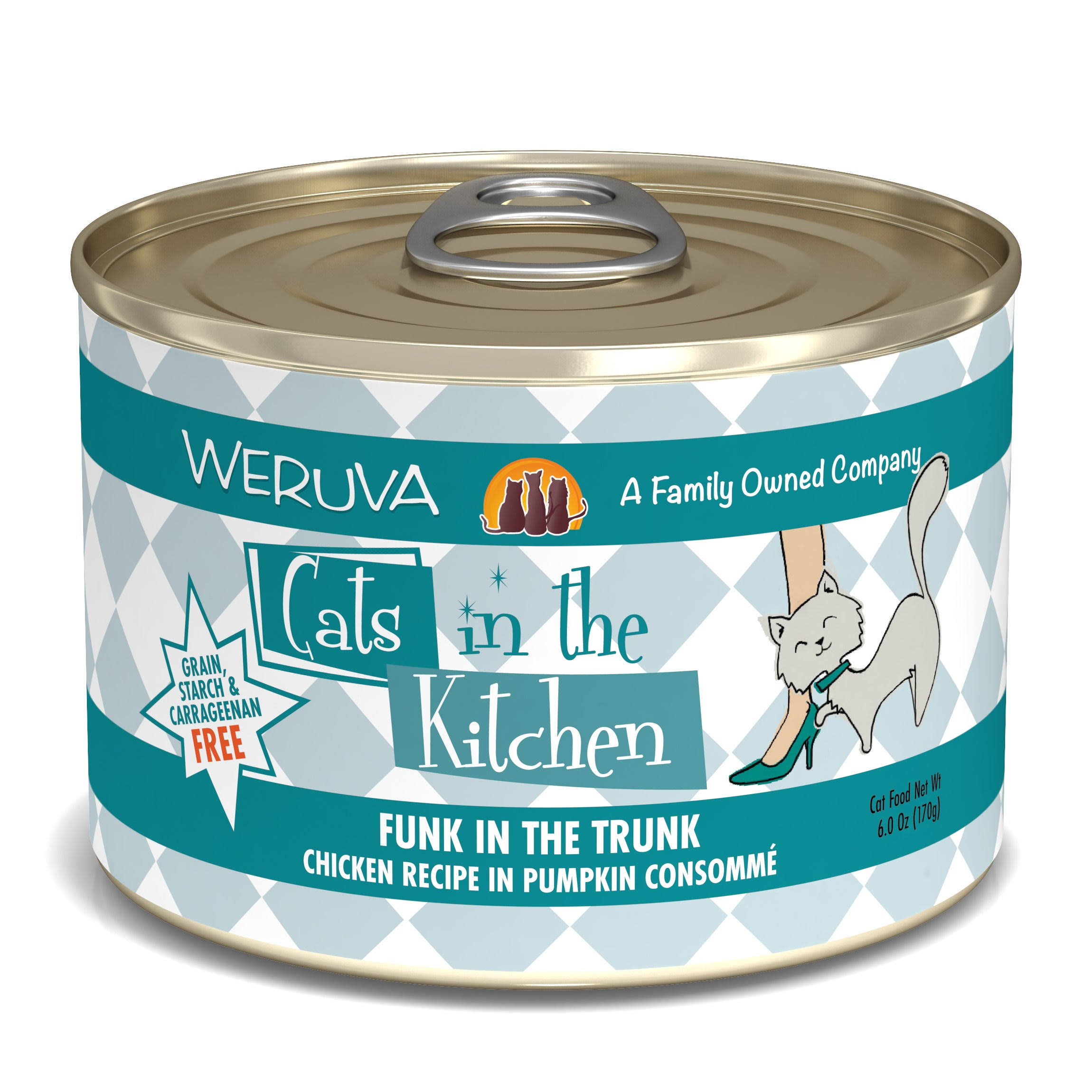 Weruva Cats in the Kitchen Funk in the Trunk Cat Food - Chicken & Pumpkin, 170g