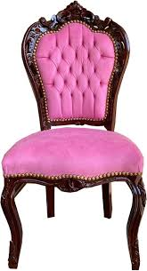 casa padrino barock esszimmerstuhl rosa braun 53 x 57 x h 108 cm handgefertigter massivholz küchenstuhl mit edlem samtstoff barock esszimmer