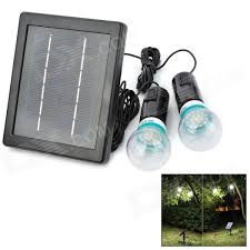 solar powered rechargeable 3w 200lm 7000k 20 led dual e27 bulbs