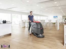 Automatic Floor Scrubber Detergent by Battery Powered Floor Scrubber 20 In Cleaning Path