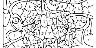 Color By Number Coloring Pages Free Numbers