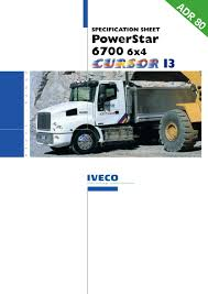 100 Iveco Trucks Usa 2002 POWERSTAR 6700 6x4 CURSOR 13 ENGINE By Midia Truck