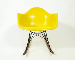 Eames RAR Brilliant Yellow Rocking Chair - Ibiza Interiors Black 2014 Herman Miller Eames Rar Rocking Arm Chairs In Very Good Cdition White Rocking Chair Charles Ray Eames And For Vintage Brown By C Frank Landau For Sale Rope Edge Chair 1950s Midcentury Modern Rar A Pair 1948 Retro Obsessions
