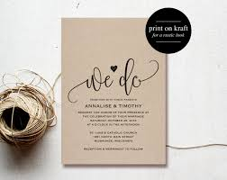 Rustic Wedding Invitation Sets Australia