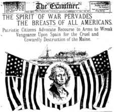 Sinking Of The Uss Maine Newspaper by Old War Movies Philippine American War Trial Run For Imperialism