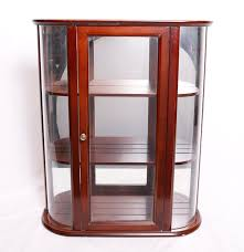 Curved Glass Curio Cabinet by Bombay Company Curio Cabinet Ebth