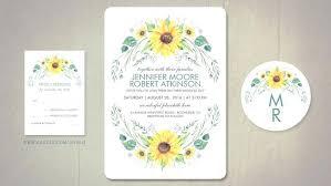 Best Of Sunflower Wedding Invitations Templates Or Invitation Set Rustic
