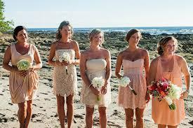 Beach Wedding Ideas Peach Bridesmaid Dresses
