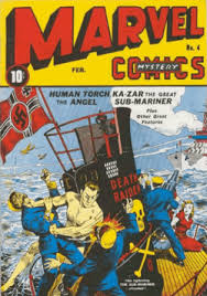 Namors First Cover Appearance Marvel Mystery Comics 4 Feb 1940 Art By Alex Schomburg