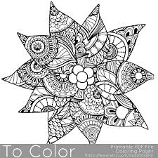 Christmas Coloring Page For Adults Poinsettia