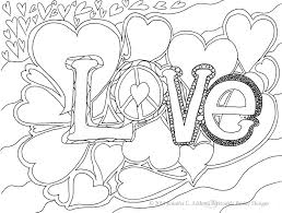 Coloring Pages Love Valentines Free Page For You Or Your Download