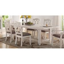 Clearance Brushed White Trestle Style Dining Table