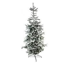 Pre Lit Flocked Christmas Tree Canada by 6 5 U0027 Pre Lit Noble Fir Artificial Flocked Christmas Tree Warm