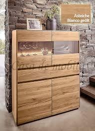 highboard 120x151x42cm nyon rustikale asteiche bianco geölt vitrine gerundete form casade mobila