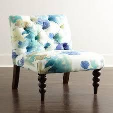 orianna blue and white chair