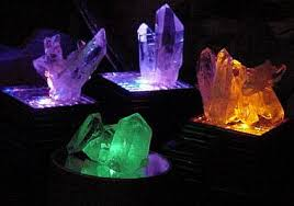 Arkansas Quartz Crystal Clusters On LED Light Bases