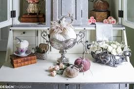 Storing Pumpkin Pieces by Introducing Fall Decor To Your Home With Neutral Pumpkin Styling