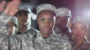 Female Soldiers Stand To Attention And Salute Royalty Free Stock Video