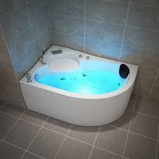 tronitechnik whirlpool badewanne rechts 150cm x 100cm mit spülfunktion wasserfalleinlauf hydromassage und farblichtherapie