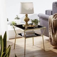 couchtisch glas schwarz gold in 2 größen metallgestell wohnzimmertisch beistelltisch glastisch gold wohnling