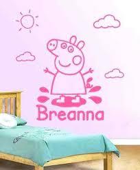 Stupefying Pig Bedroom Decor Wall Decal Vinyl Sticker Personalised Decoration Peppa Room