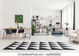 teppich im esszimmer geometrischer teppich im speisesaal