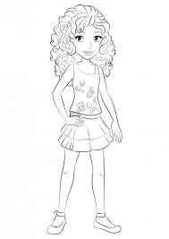 Lego Friends Coloring Pages Andrea