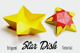Origami Star Dish Instructions