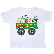 100 Monster Truck T Shirts INKtastic 2nd Birthday Oddler Shirt 2 Year Old Wo