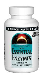 100 Daily Source Naturals Essential Enzymes 500mg 360 Capsules