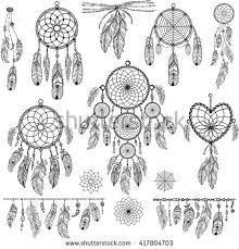 Design Elements In Boho Style Lineart Native Tattoo