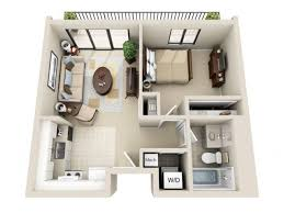 Bedroom Studio 1 Bedroom Apartments Stylish Pertaining To Vs