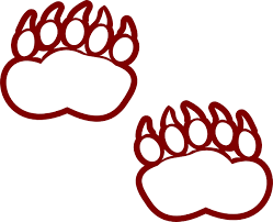 Bear Claw Print Clipart Polar Paw Coloring Page