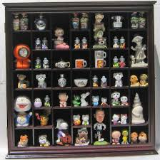 Amazon Collectible Display Case Wall Curio Cabinet Shadow Box Solid Wood Glass Door Cherry Finish Kitchen Dining