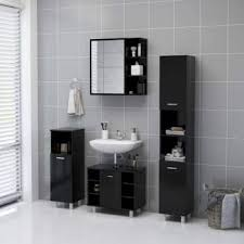 bad spiegelschrank schwarz 62 5x20 5x64 cm spanplatte