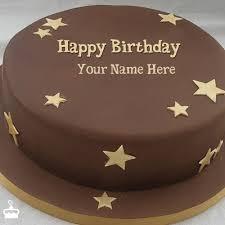 Write Name on Cake Chocolate Stars Cake With Name