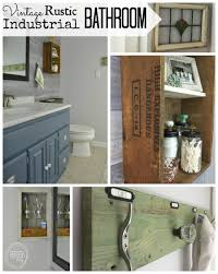 Industrial Bathroom Cabinet Mirror by Vintage Rustic Industrial Bathroom Reveal Refresh Living