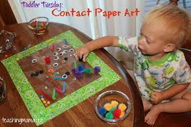 Toddler Tuesday Contact Paper Art