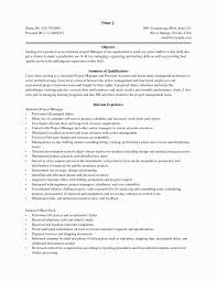 Assistant Project Manager Construction Resume New Sample Fresh Architectural Of