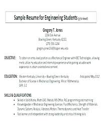 Sample Career Objective For Resume Software Engineer Writing