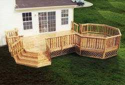 12 x 18 deck with octagon and stairs building plans only at