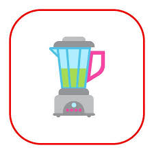 Vector Icon Of Kitchen Blender With Green Liquid Illustration