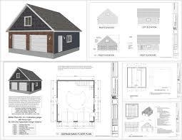 30 X 30 House Floor Plans by G550 28 X 30 X 9 Garage Plans With Bonus Room Sds Plans