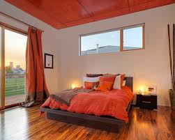 Modest Design Orange Bedroom Ideas Decor Pictures Remodel And