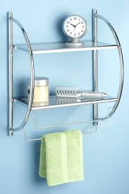 bathroom shelf with towel bar uk white wood chrome bath elpro me