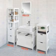 sobuy frg126 w badezimmer hochschrank für bad badregal mit fußpolster badmöbel weiß