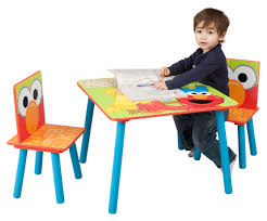 Sesame Street Kids' 3 Piece Table & Chair Set | Gifting | Kids Table ... Toddler Table Chairs Set Peppa Pig Wooden Fniture W Builtin Storage 3piece Disney Minnie Mouse And What Fun Top Big Red Warehouse Build Learn Neighborhood Mega Bloks Sesame Street Cookie Monster Cot Quilt White Bedroom House Delta Ottoman Organizer 250 In X 170 310 Bird Lifesize Officially Licensed Removable Wall Decal Outdoor Joss Main Cool Baby Character 20 Inspirational Design For Elmo Chair With Extremely Rare Activity 2